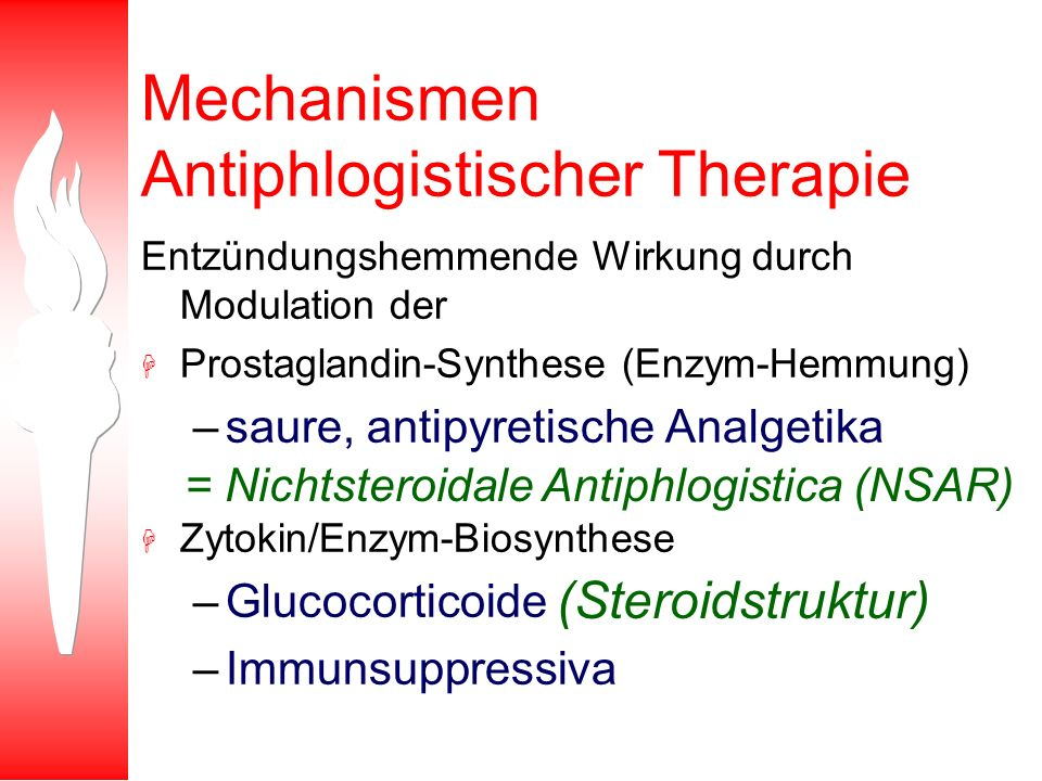 Mechanismen Antiphlogistischer Therapie