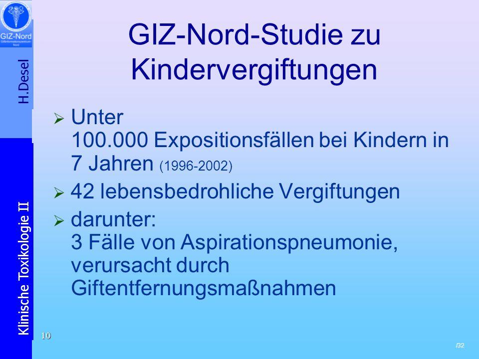 GIZ-Nord-Studie zu Kindervergiftungen
