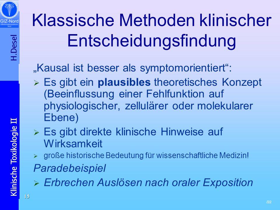 Klassische Methoden klinischer Entscheidungsfindung