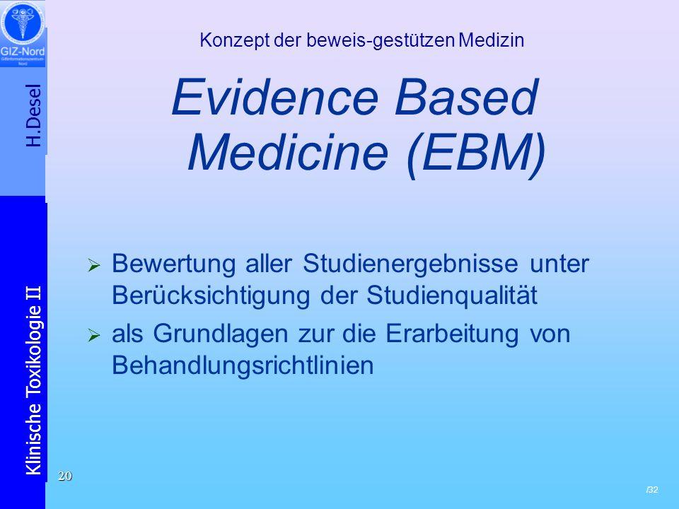 Konzept der beweis-gestützen Medizin