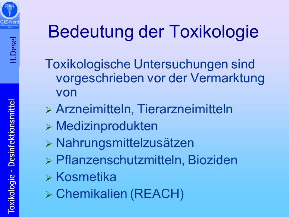 Bedeutung der Toxikologie