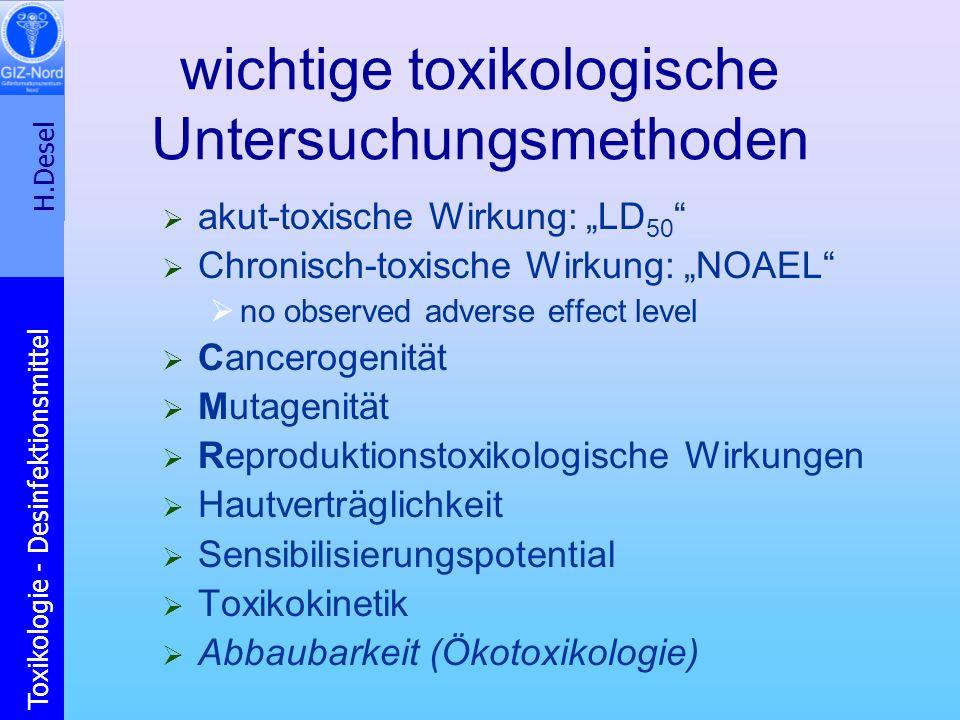 wichtige toxikologische Untersuchungsmethoden