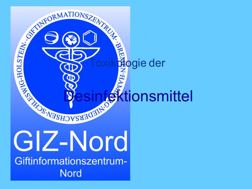 Toxikologie der Desinfektionsmittel