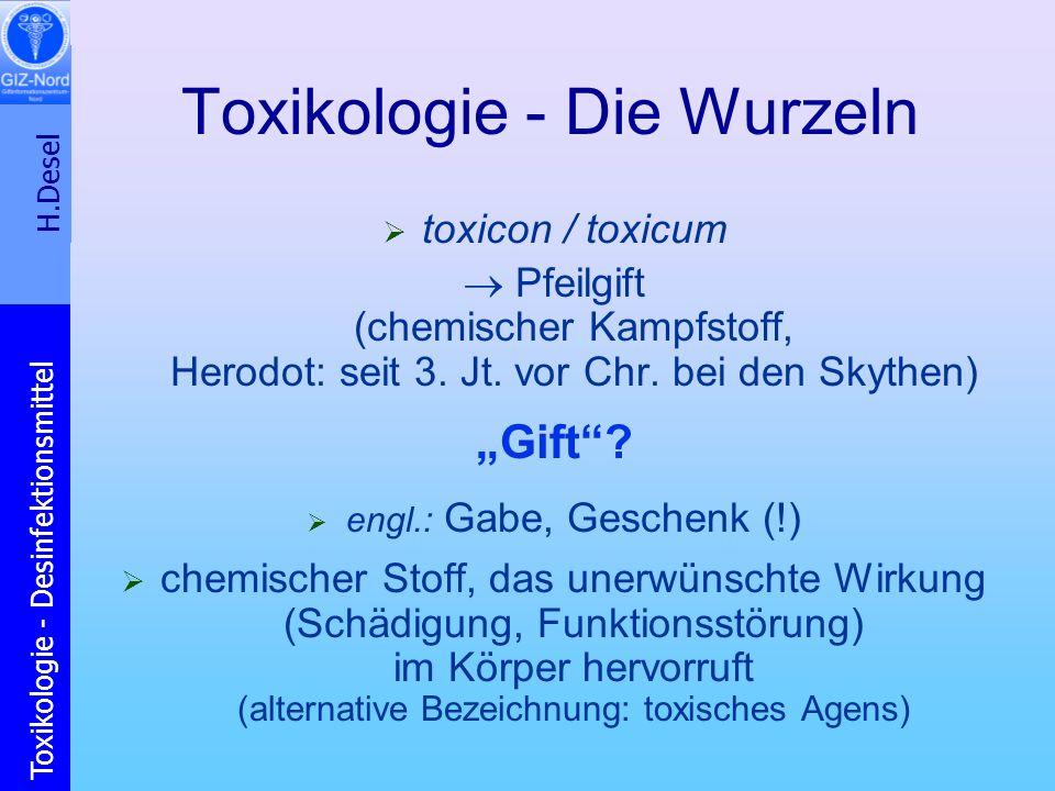 Toxikologie - Die Wurzeln