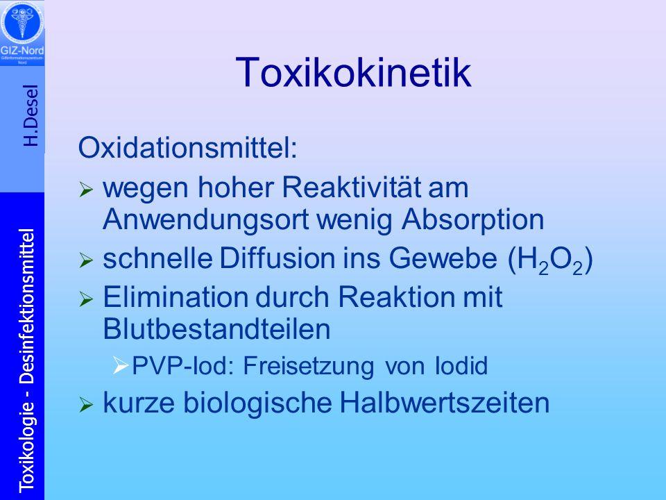 Toxikokinetik Oxidationsmittel: