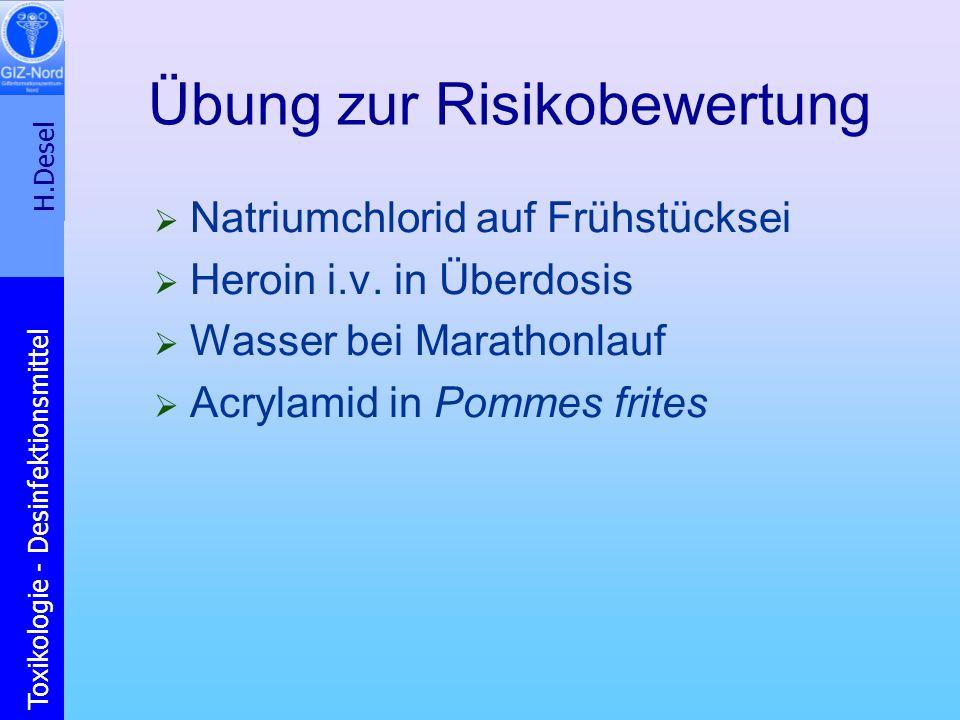 Übung zur Risikobewertung