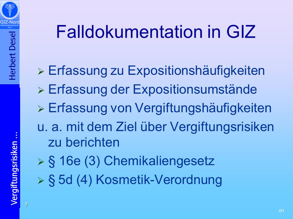 Falldokumentation in GIZ