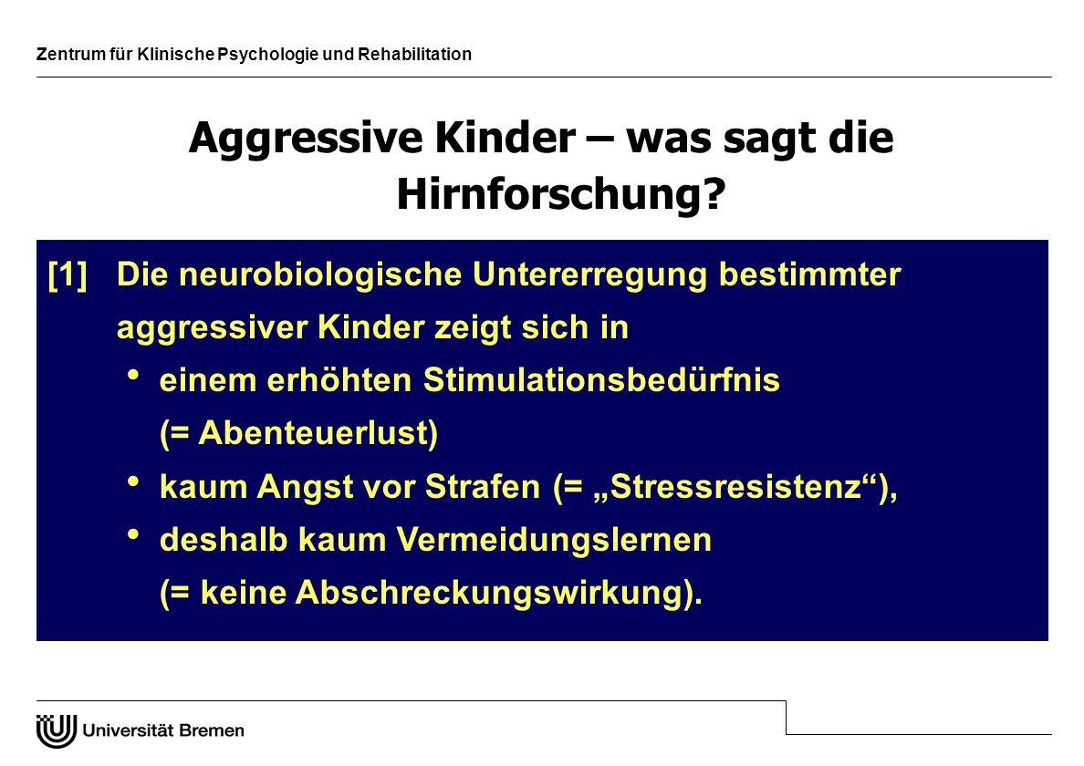 Aggressive Kinder – was sagt die Hirnforschung