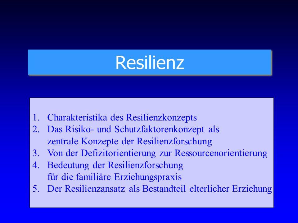 Resilienz Charakteristika des Resilienzkonzepts