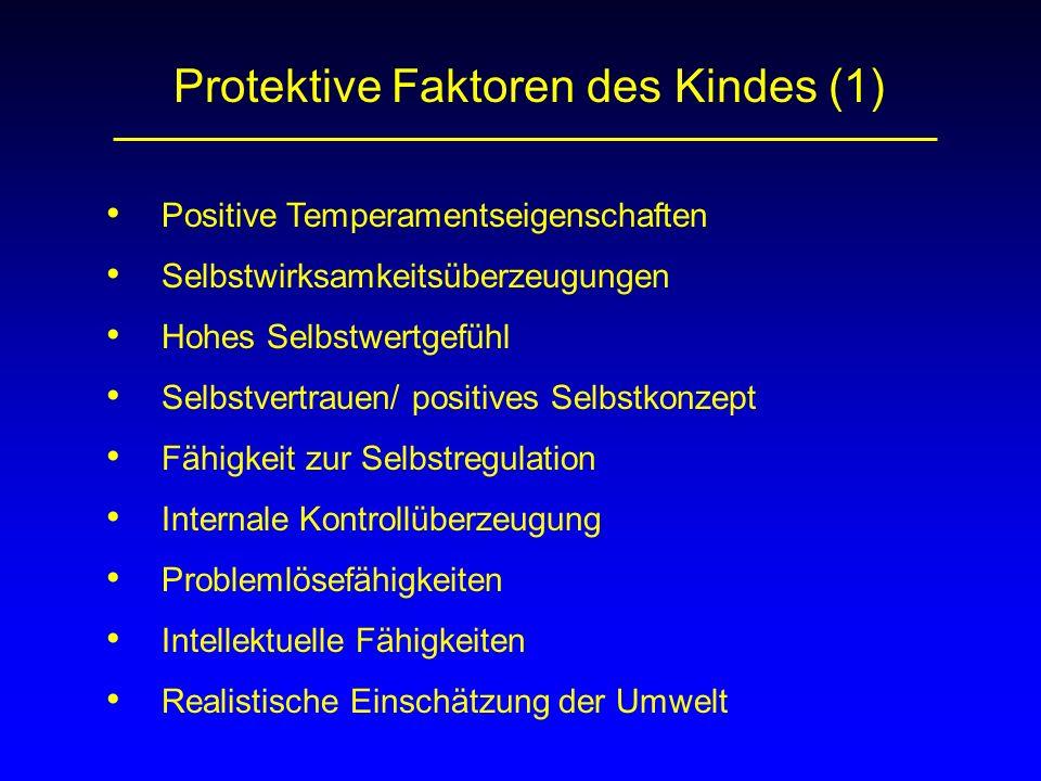 Protektive Faktoren des Kindes (1)
