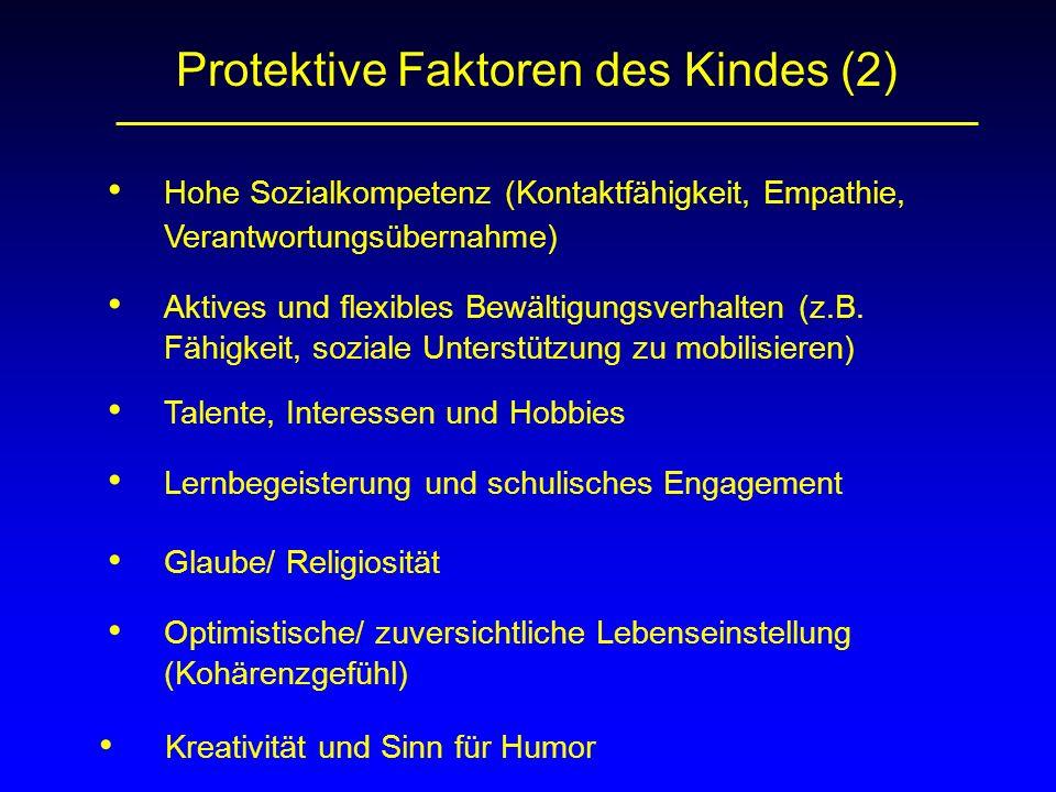 Protektive Faktoren des Kindes (2)