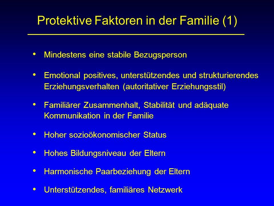 Protektive Faktoren in der Familie (1)