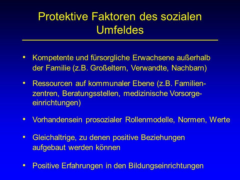 Protektive Faktoren des sozialen Umfeldes