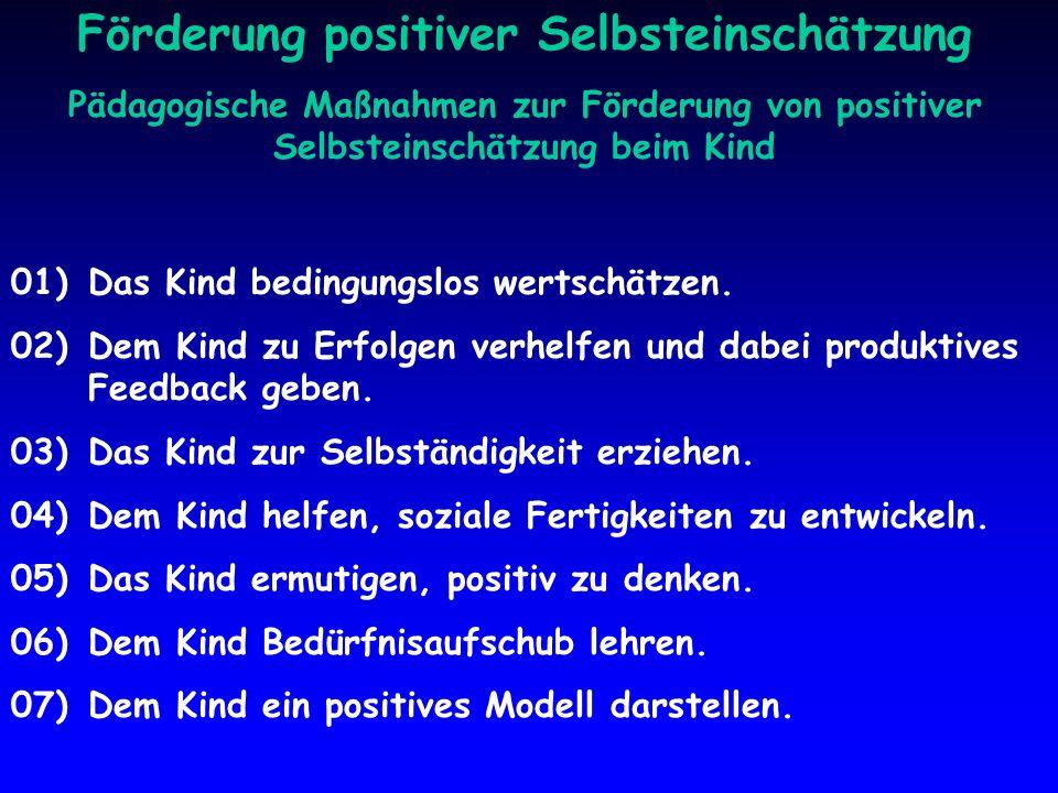 Förderung positiver Selbsteinschätzung