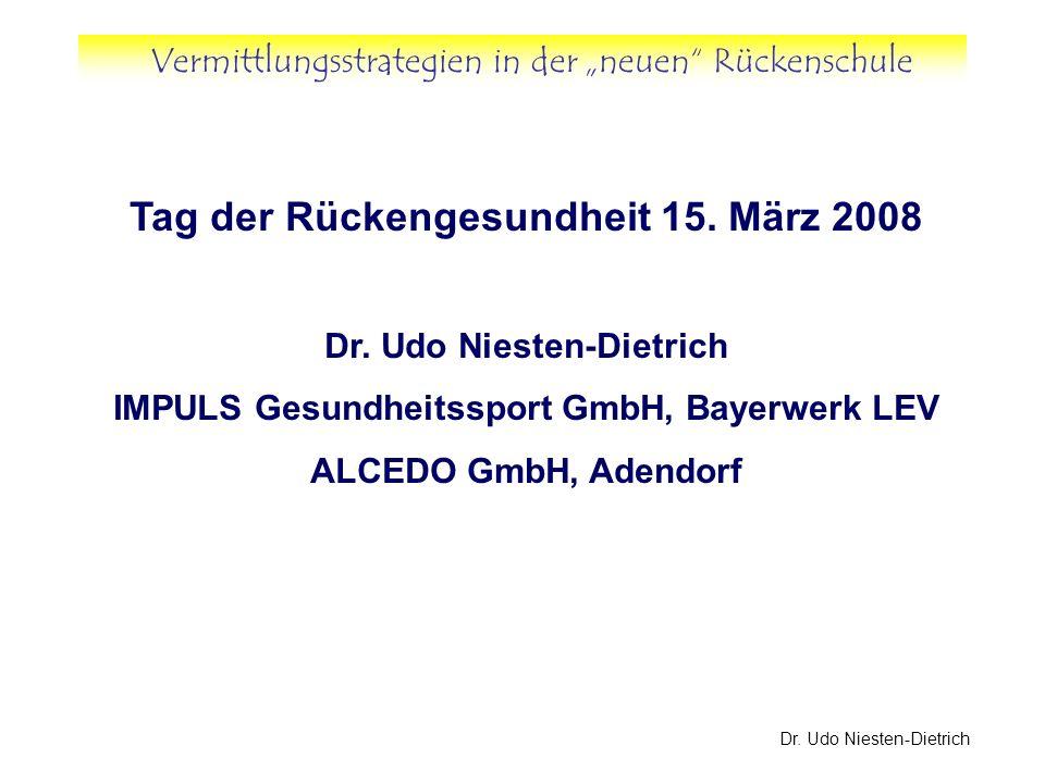 Tag der Rückengesundheit 15. März 2008