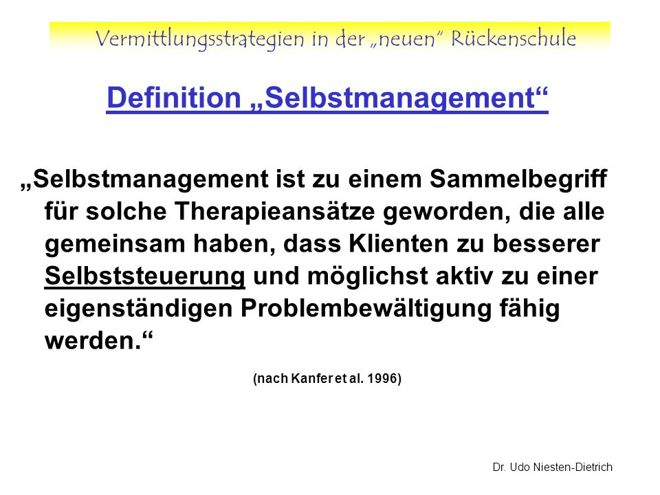 "Definition ""Selbstmanagement"