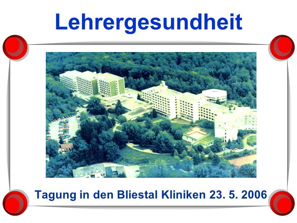 Tagung in den Bliestal Kliniken 23. 5. 2006