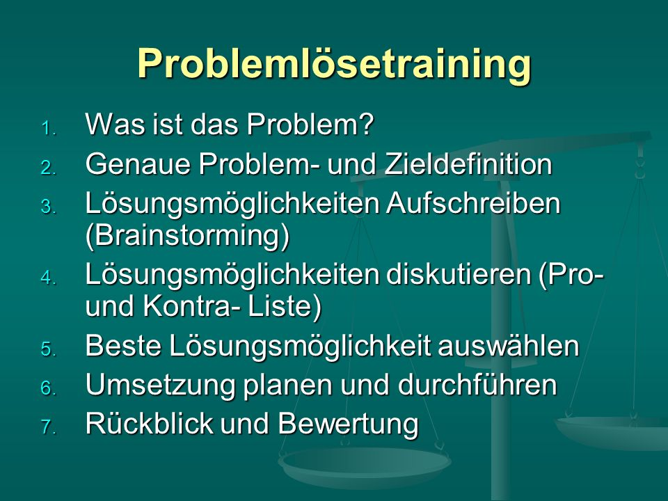 Problemlösetraining Was ist das Problem