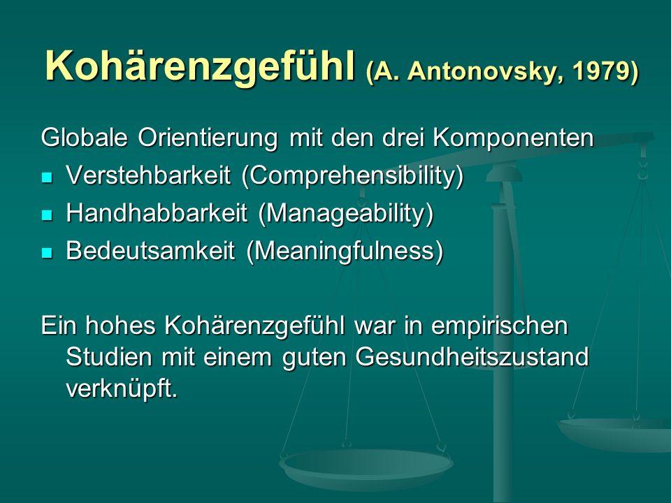 Kohärenzgefühl (A. Antonovsky, 1979)