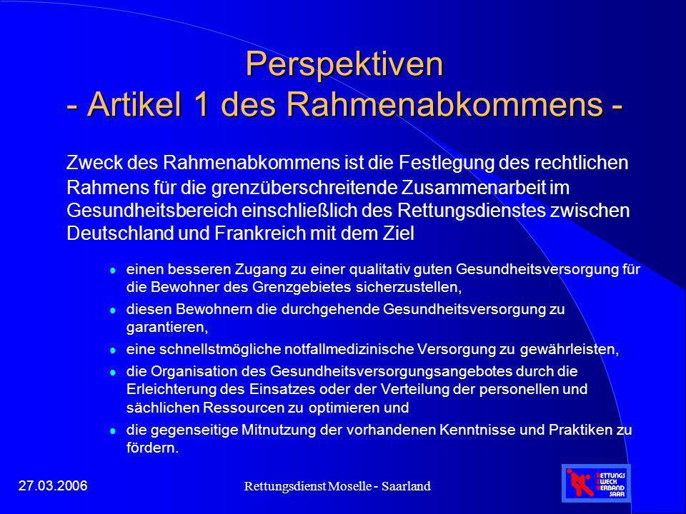 Perspektiven - Artikel 1 des Rahmenabkommens -