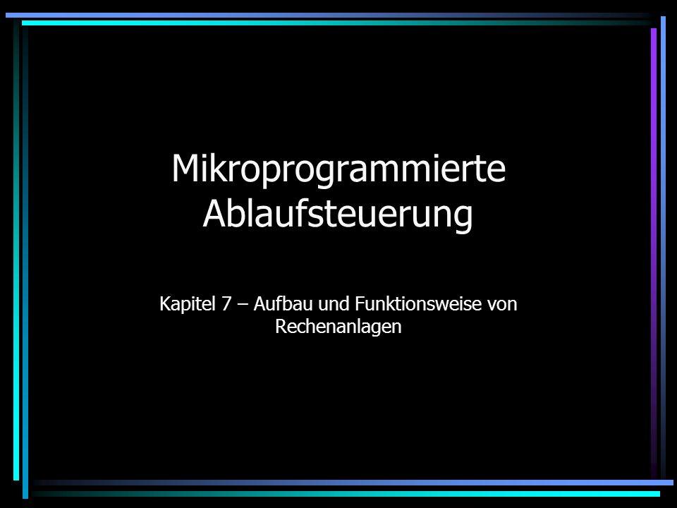 Mikroprogrammierte Ablaufsteuerung