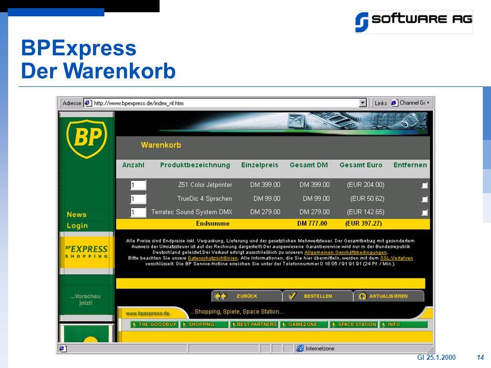 BPExpress Der Warenkorb