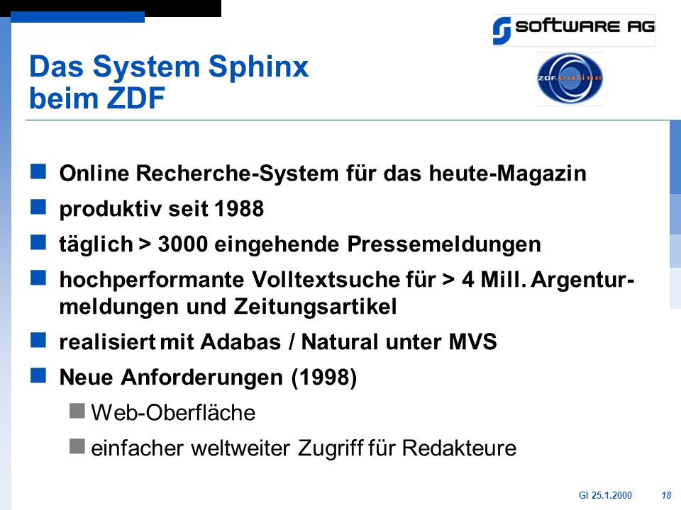 Das System Sphinx beim ZDF