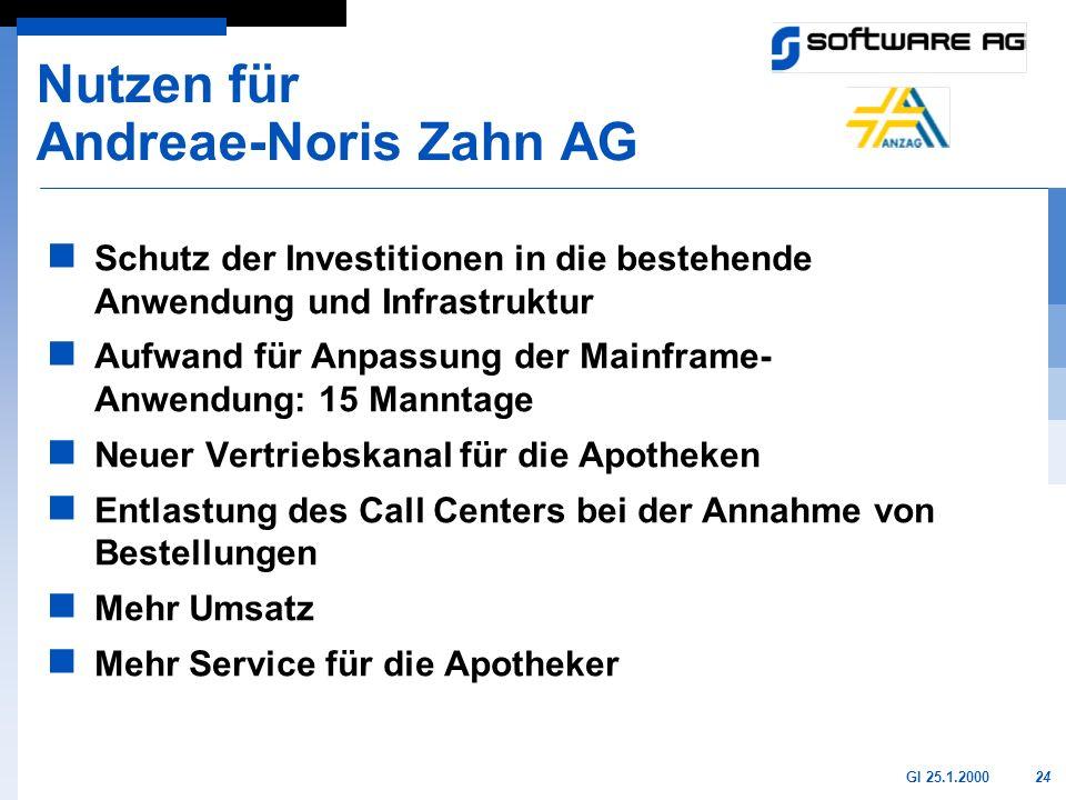 Nutzen für Andreae-Noris Zahn AG