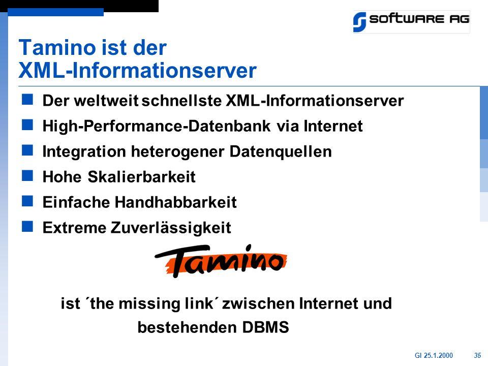 Tamino ist der XML-Informationserver