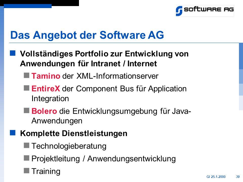 Das Angebot der Software AG