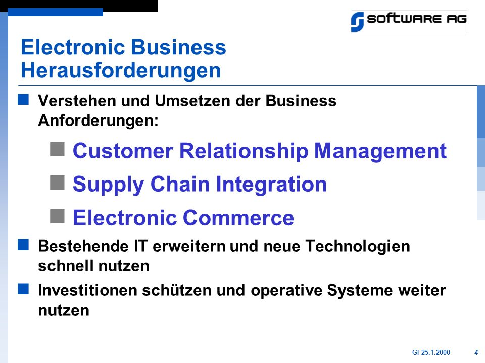 Electronic Business Herausforderungen