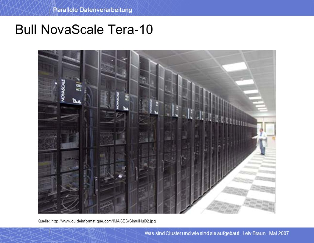 Bull NovaScale Tera-10 Quelle: http://www.guideinformatique.com/IMAGES/SimulNul02.jpg