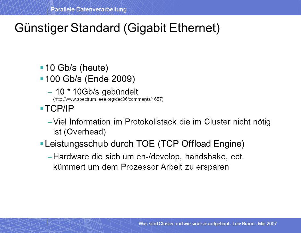 Günstiger Standard (Gigabit Ethernet)