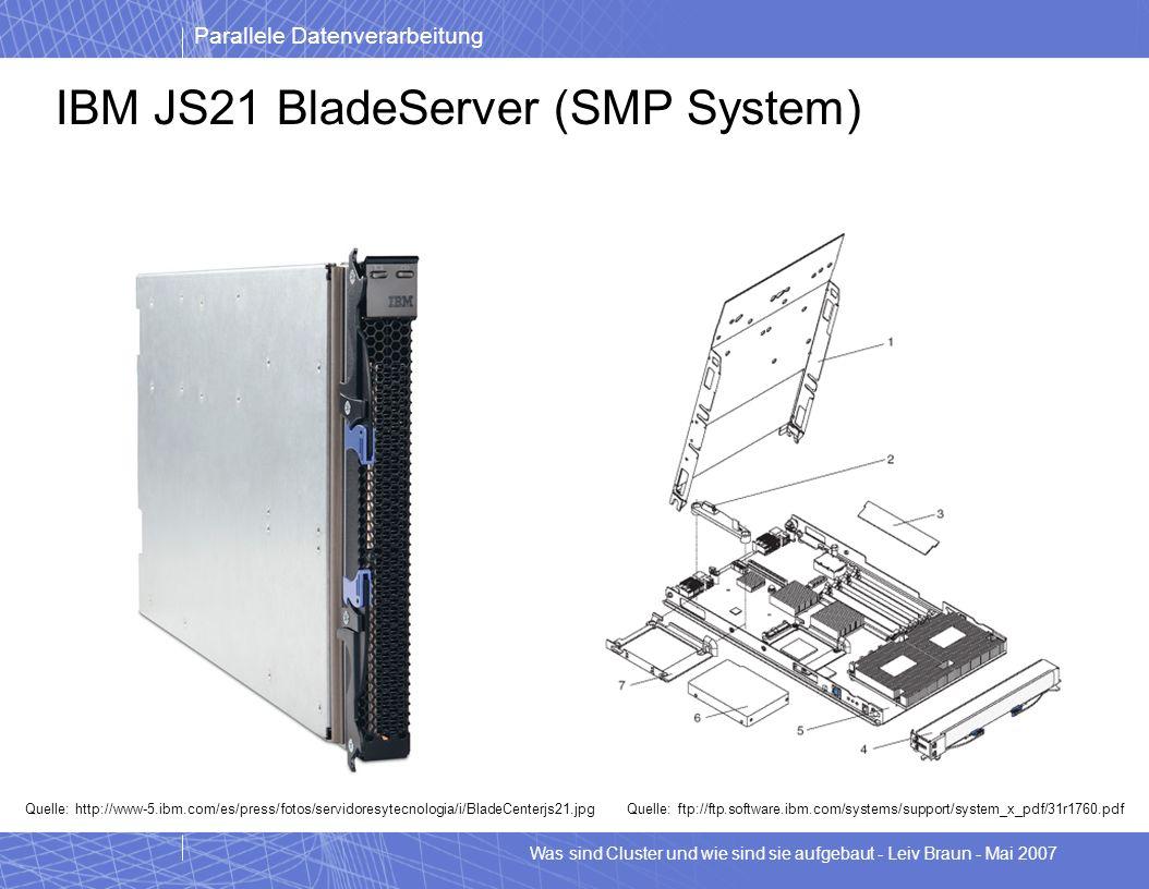 IBM JS21 BladeServer (SMP System)