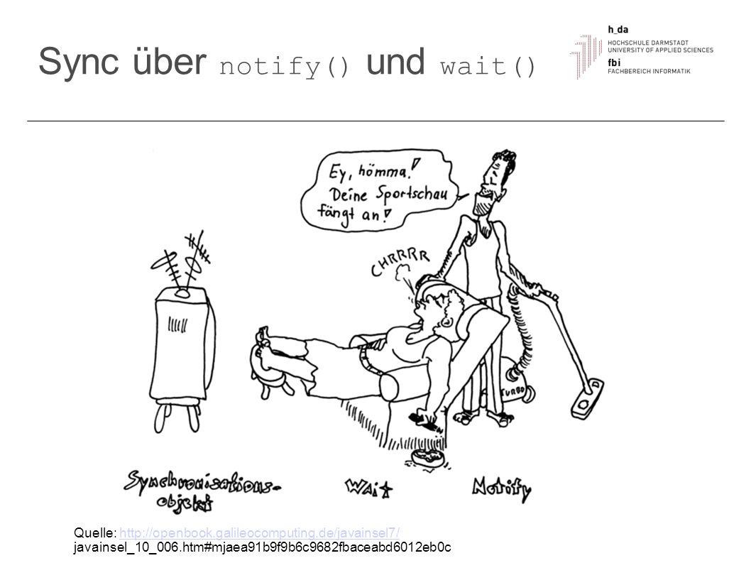 Sync über notify() und wait()
