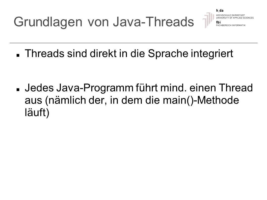 Grundlagen von Java-Threads