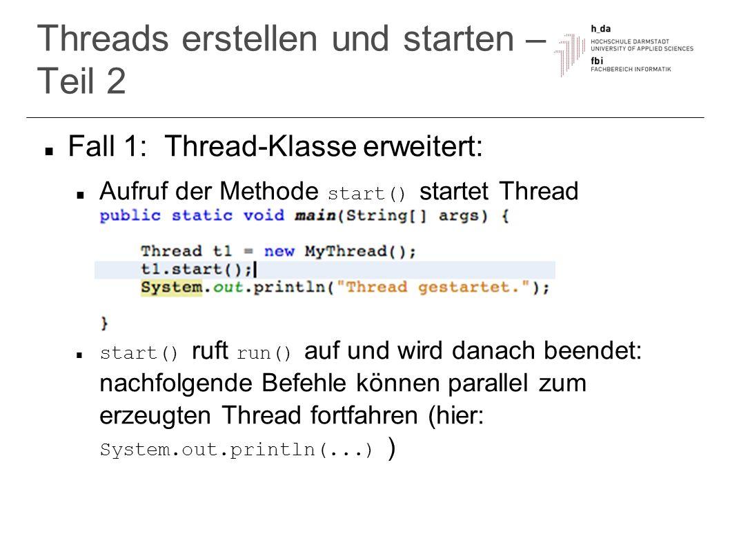 Threads erstellen und starten – Teil 2