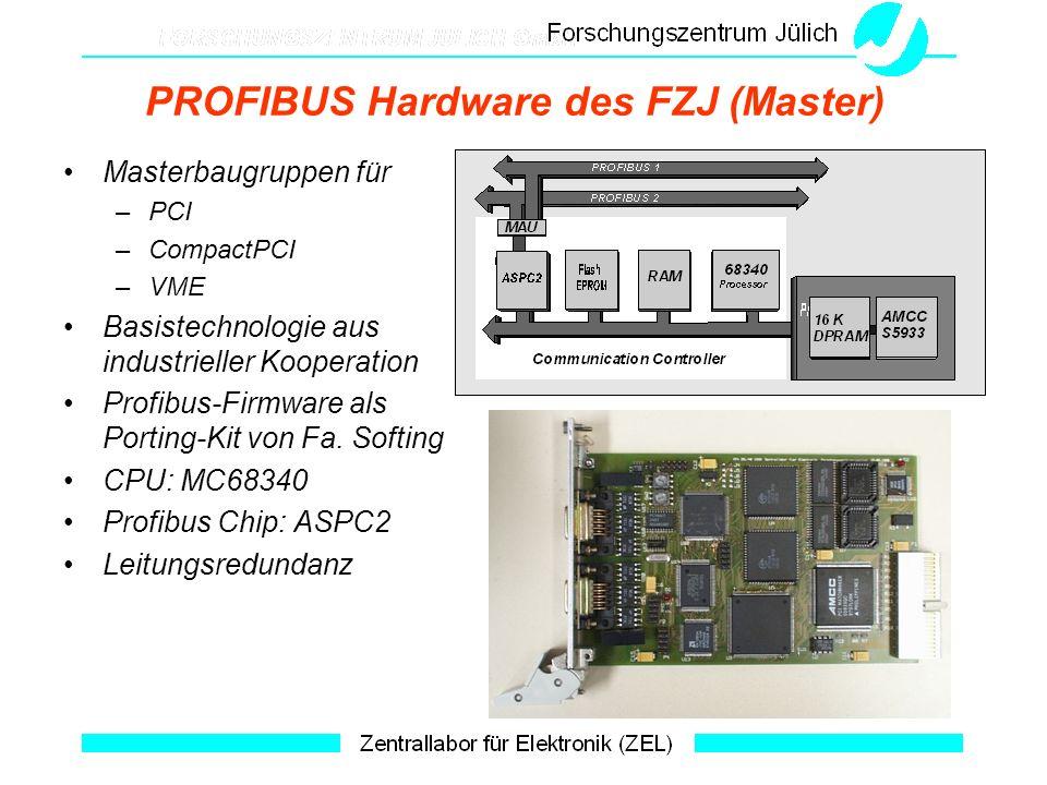 PROFIBUS Hardware des FZJ (Master)
