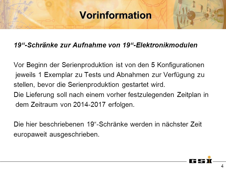 Vorinformation