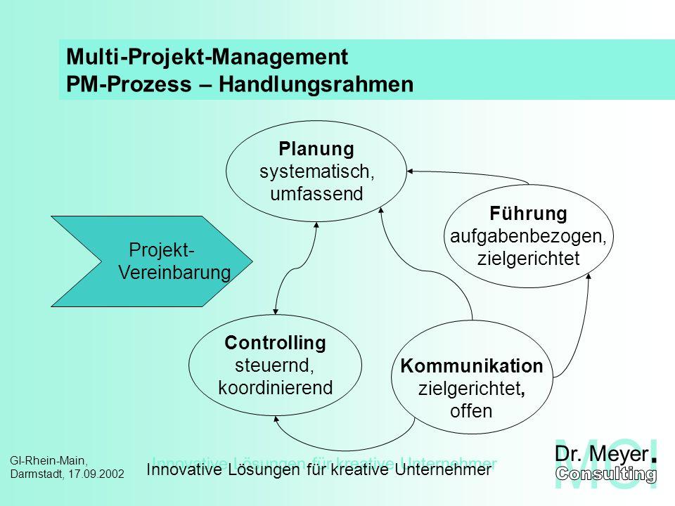 Multi-Projekt-Management PM-Prozess – Handlungsrahmen