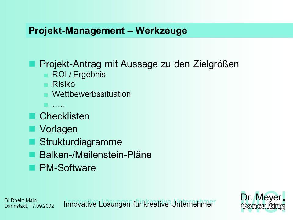 Projekt-Management – Werkzeuge