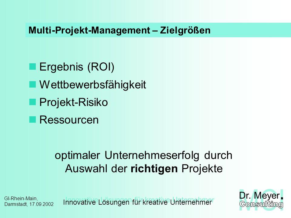 Multi-Projekt-Management – Zielgrößen