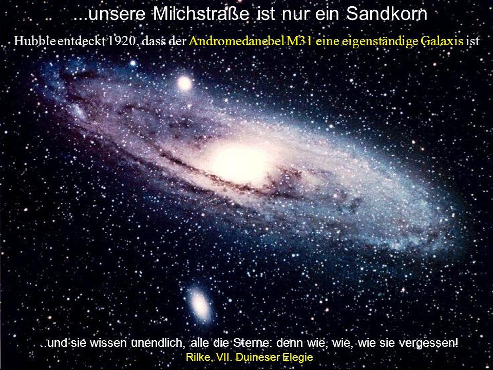 Unsere Milchstraße ist nur ein Sandkorn