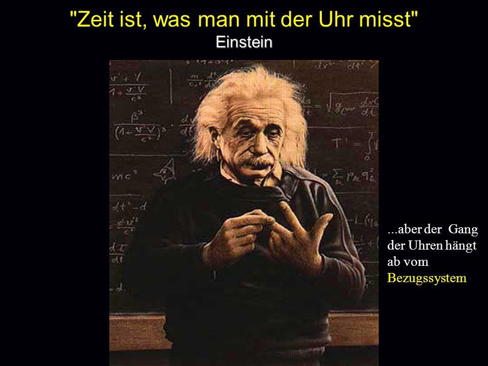 Zeit ist, was man mit der Uhr misst Einstein