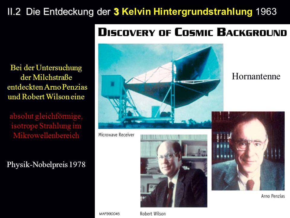 II.2 Die Entdeckung der 3 Kelvin Hintergrundstrahlung 1963