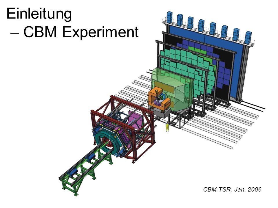 Einleitung – CBM Experiment