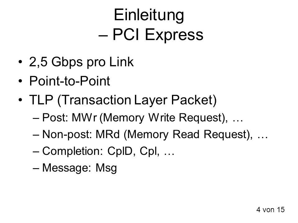 Einleitung – PCI Express