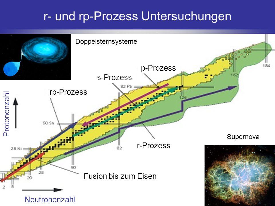 r- und rp-Prozess Untersuchungen