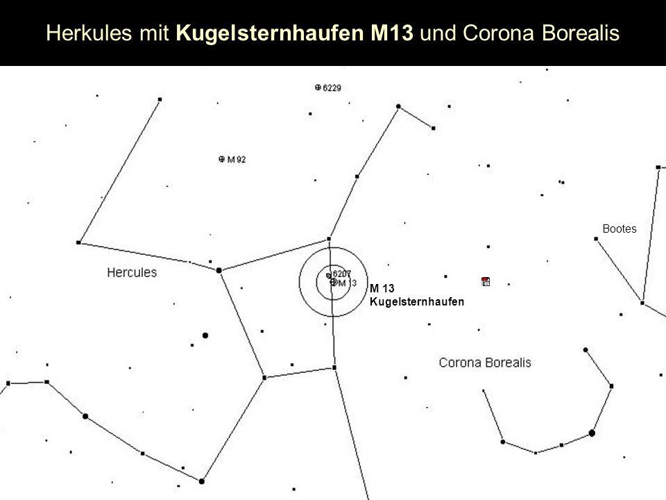 Herkules mit Kugelsternhaufen M13 und Corona Borealis