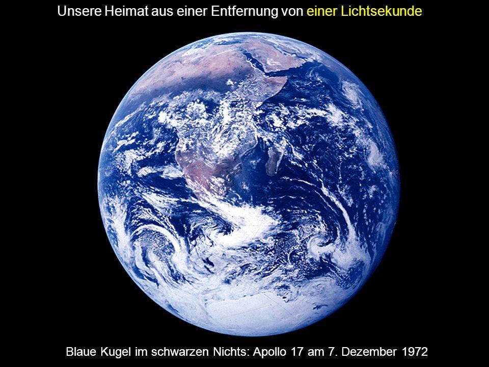 Blaue Kugel im schwarzen Nichts: Apollo 17 am 7. Dezember 1972